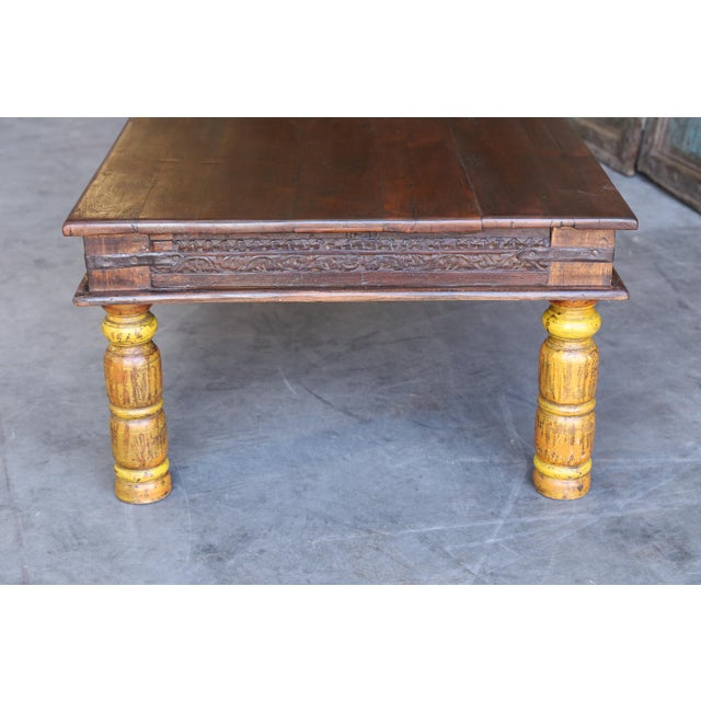 19th Century Anglo Indian Solid Teak Wood Coffee Table Chairish
