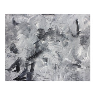 """Large Abstract Oil Painting by Trixie Pitts """"Fred Astaire"""""""