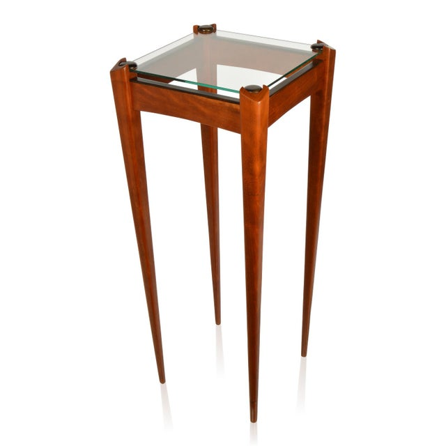This beautiful pair of custom-made wood display pedestals are outstanding and have modern clean line appearance that would...
