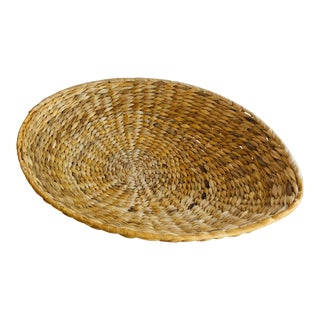 Natural Woven Basket Tray For Sale