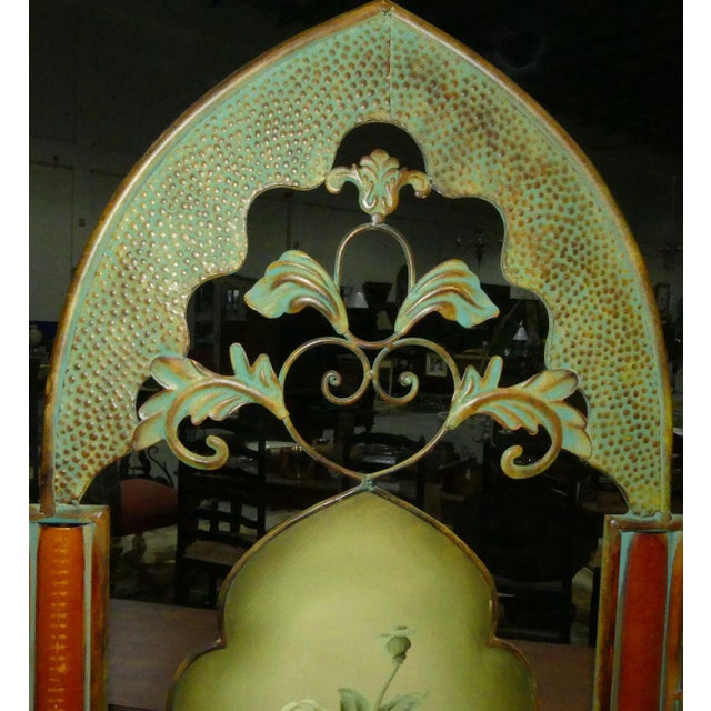 2000 - 2009 Painted Metal Room Divider/ Floor Screen or Queen Size Headboard For Sale - Image 5 of 13