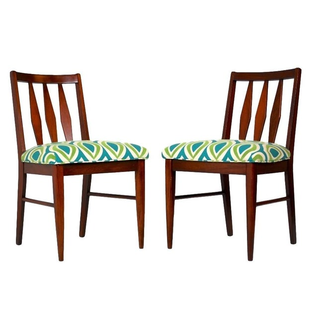 Mid-Century Teak Side Chairs- A Pair - Image 1 of 5