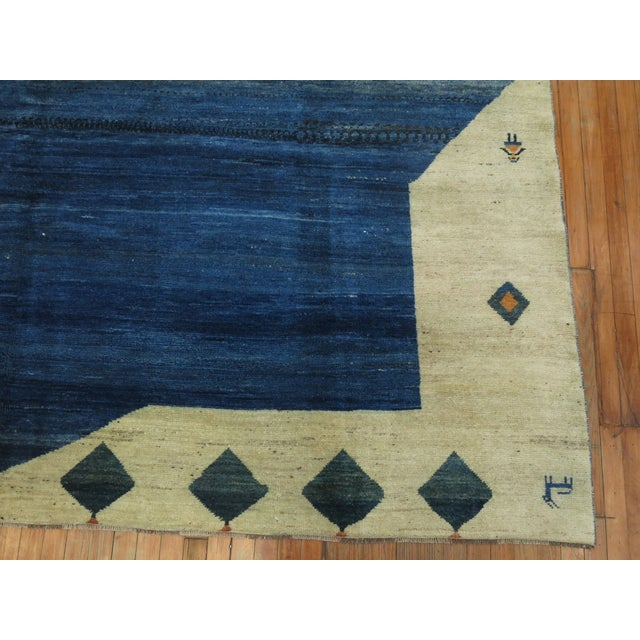 Vintage Pictorial Gabbeh, 9'10'' X 11'6'' For Sale - Image 4 of 12