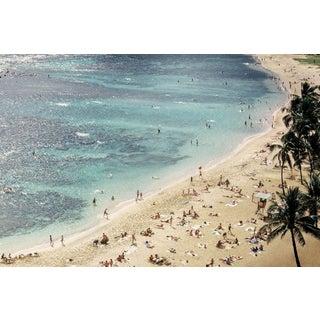 Vintage Oahu Hawaii Beach Photograph Print For Sale
