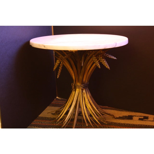 Vintage Italian Wheat Sheaf Marble Top Table - Image 2 of 7