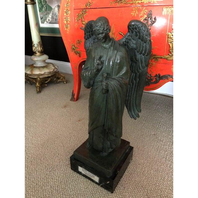 Bronze Archangel Sculpture From Roman Bronze Works For Sale In Philadelphia - Image 6 of 8