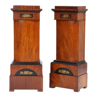 19th Century Mahogany Pedestals - a Pair For Sale