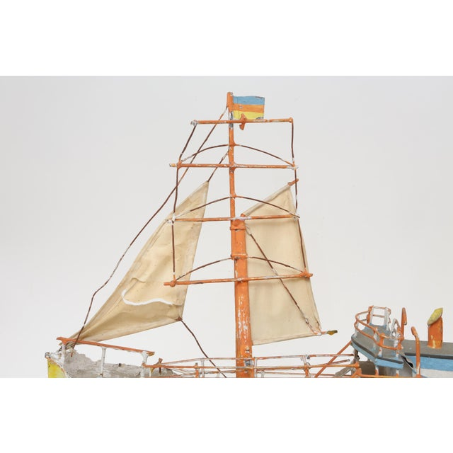 Large Model Boat Ship with Stand - Image 8 of 9