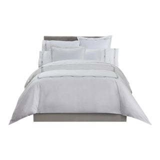 Saint-Tropez Embroidered Duvet Cover Queen - Sky/Mercury For Sale
