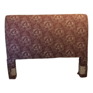 Pierre Deux Purple Toile Custom Queen Headboard For Sale