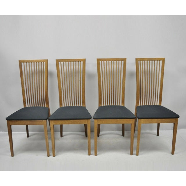 Early 21st Century Calligaris Connubia Slat Back Italian Wooden Dining Side Chair Set Of 4 Chairish