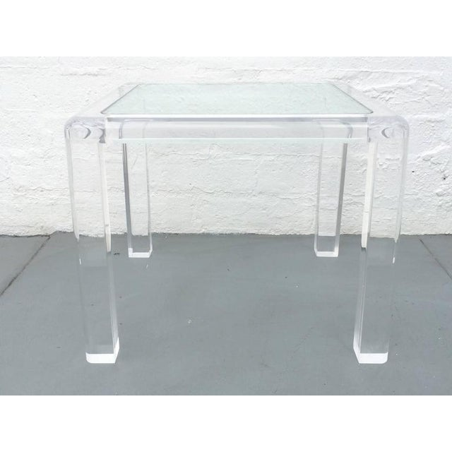 Acrylic and Glass Occasional Table by Les Prismatiques For Sale In Palm Springs - Image 6 of 6