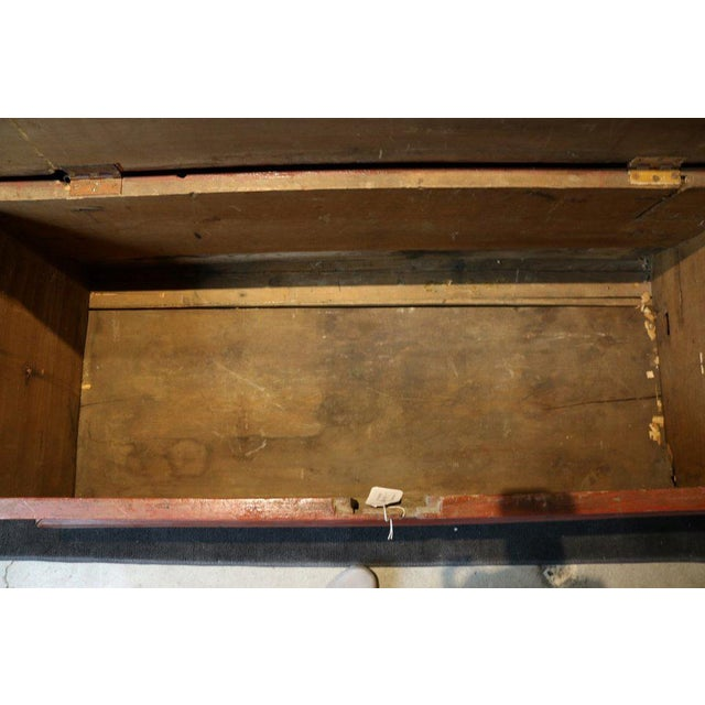 Early 20th Century Painted Sea Chest For Sale - Image 5 of 6