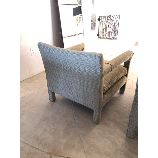 1970s Vintage Parsons Lounge Chairs - A Pair For Sale In Santa Fe - Image 6 of 13