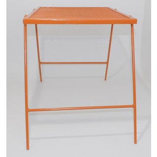 Mid-Century Modern Orange Wire End Table Preview