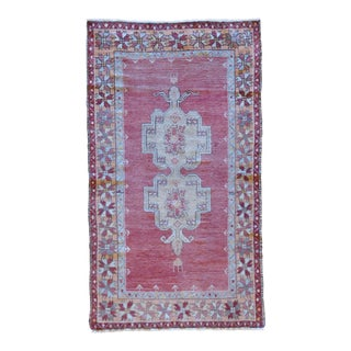 Vintage Turkish Oushak Rug - 3′9″ × 6′2″