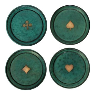 Gustavsberg Ceramic Coasters, Set of 4 For Sale