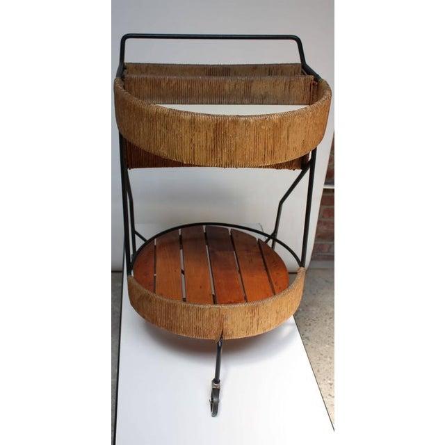Arthur Umanoff Two-Tier Bar Cart - Image 9 of 10