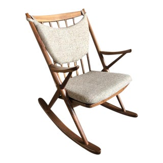 Danish Walnut Sculptural Rocking Chair For Sale