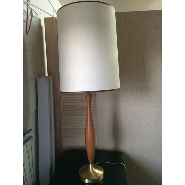 Mid-Century Walnut Table Lamp - Image 2 of 6