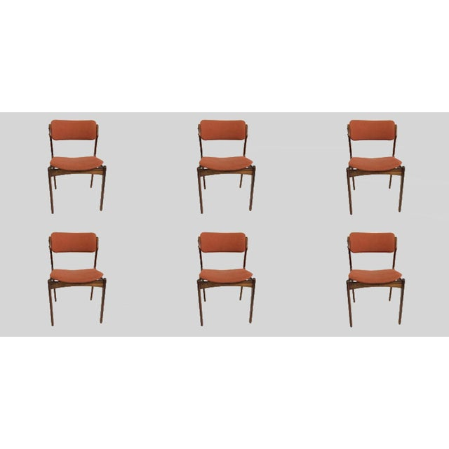 Mid-Century Modern Erik BuchRosewood Dining Chairs by Oddense Maskinsnedkeri - Set of 6 For Sale In Madison - Image 6 of 6