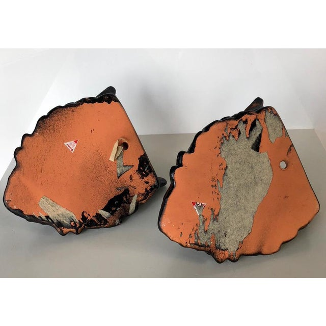 Ceramic Vintage Rabbit Head Wall Pockets - a Pair For Sale - Image 7 of 9