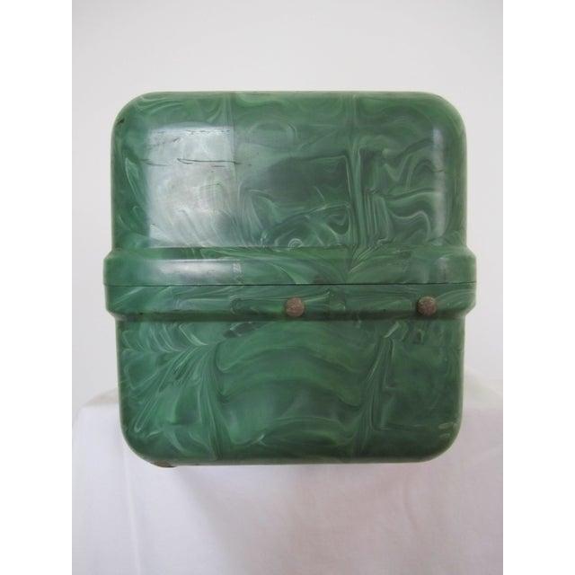 Green Marbleized Malachite Style Storage Box - Image 2 of 8