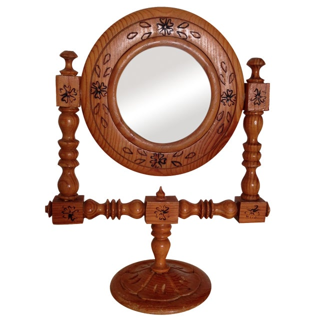 Moroccan Hand-Painted Vintage Mirror - Image 1 of 9