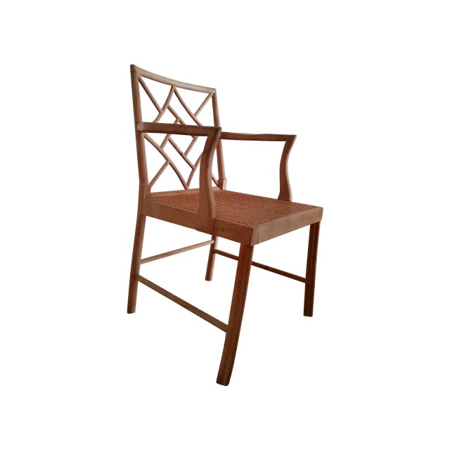 Maple Rattan Dining Chairs - 6 - Image 1 of 5
