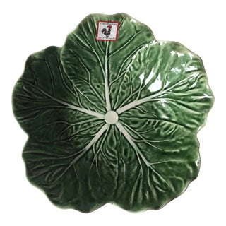 Bordallo Pinheiro Majolica Cabbage Leaf Serving Bowl