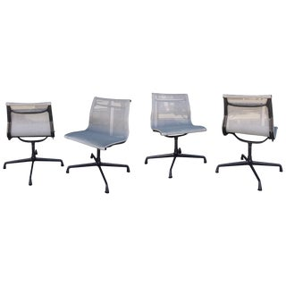 Set of Four Eames for Herman Miller Aluminium Group Indoor or Outdoor Chairs For Sale