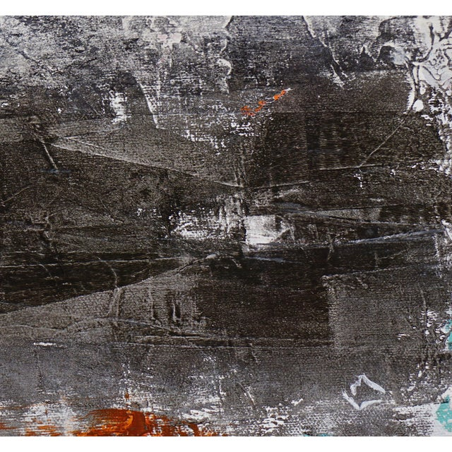 """2010s Laurie MacMillan """"Tarry Tarry Night"""" Abstract Landscape Painting For Sale - Image 5 of 5"""