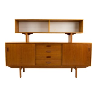 Mid-Century Modern Clausen and Son Teak Sideboard and Hutch