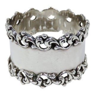 Late 19th Century Antique Towle Silver Company Napkin Ring For Sale