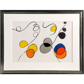 Alexander Calder - Abstract IV From Derriere Le Miroir Framed Lithograph For Sale