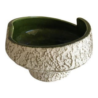 Midcentury Pottery Plant Vessel Decor Bowl For Sale