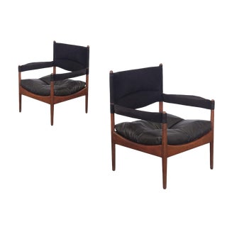 Pair of Kristian Vedel High-Back Modus Lounge Chairs For Sale