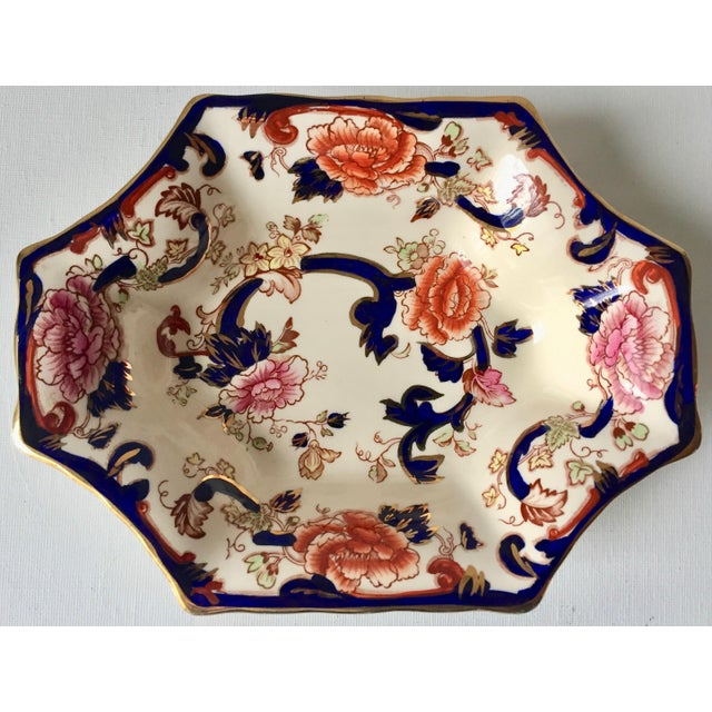 "English Mason's Gaudy Welsh Ironstone Dish-""Mandalay"" For Sale - Image 9 of 10"