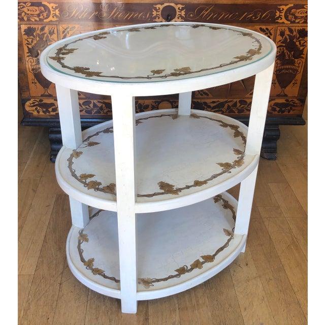Hollywood Regency Vintage Designer Hollywood Regency End Table For Sale - Image 3 of 5