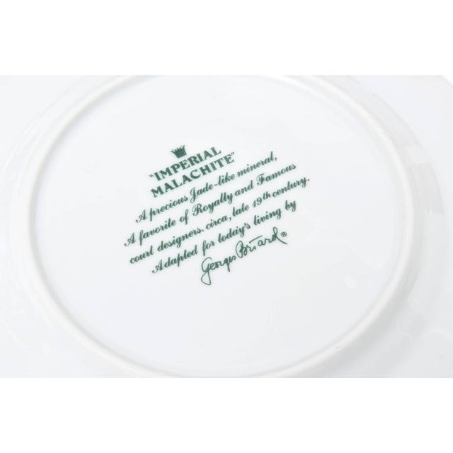 Set of Four Settings of Georges Briard Imperial Malachite China Service For Sale - Image 9 of 9