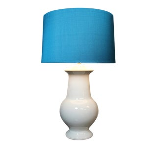 Mirabella White Ceramic Lamp For Sale