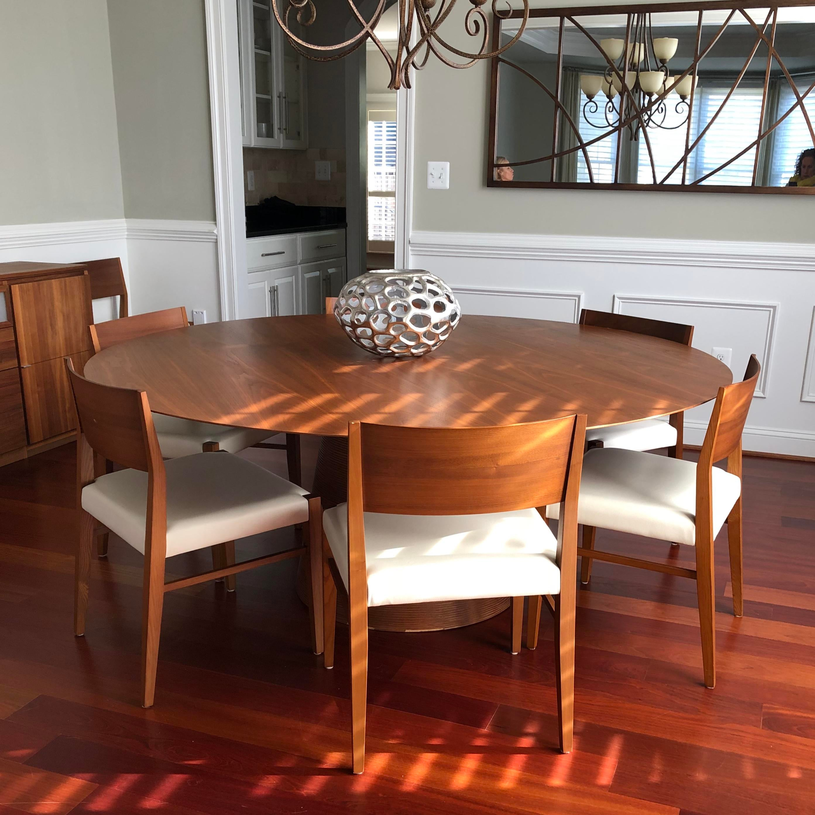Modern Scan Design Dining Table Set 9 Pieces Chairish