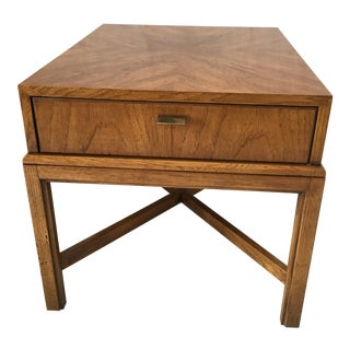 "Vintage Drexel Heritage ""Consensus"" Pecan End Table"
