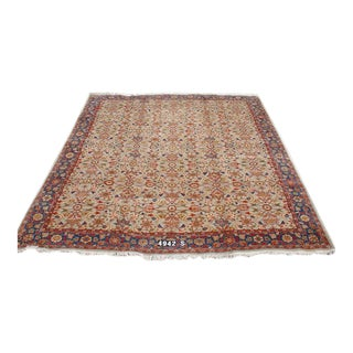 Indo-Sultanabad Silk Rug - 12′ × 15′3″ For Sale