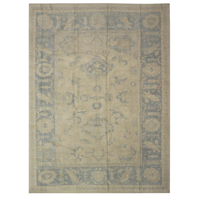 ]Turkish Oushak Rug - 9'11''x13'4'' For Sale