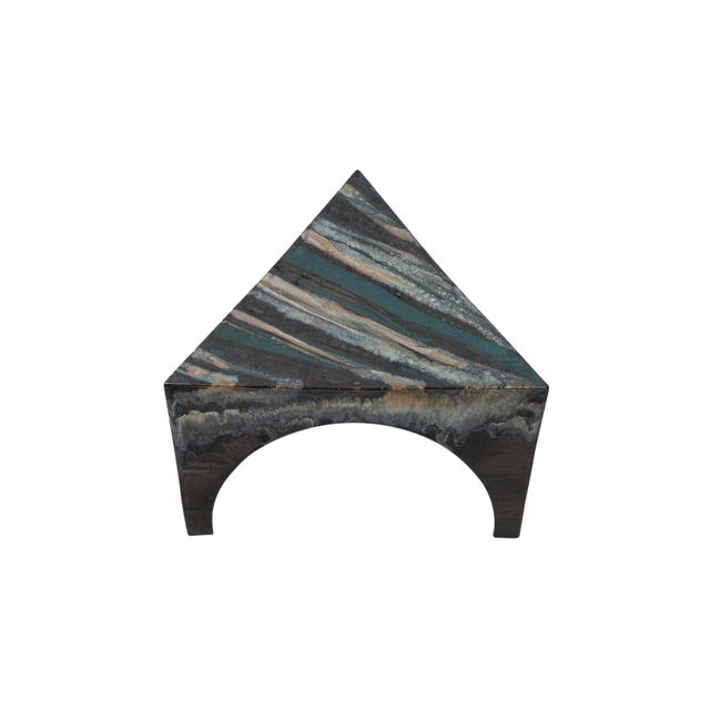 Sculptural Ceramic Stool For Sale - Image 4 of 11
