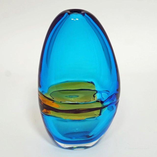 Italian Alfredo Barbini Large Vase 'Doppio Incalmo', Venice Ca. 1965 For Sale - Image 3 of 9