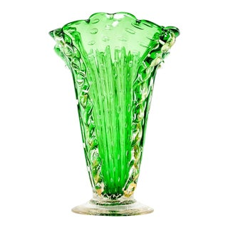 Vintage Murano Glass Decorative Vase For Sale