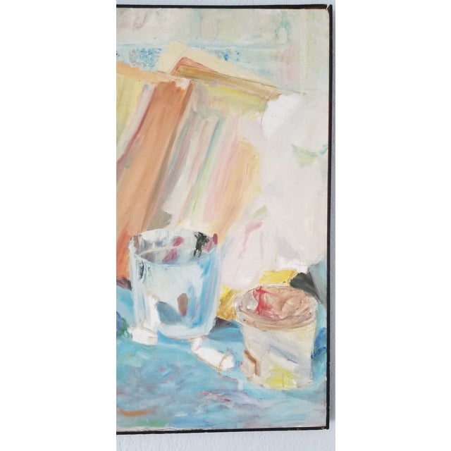 1970's John Purcell Abstract Still Life Oil on Canvas Painting, Framed For Sale In Miami - Image 6 of 12