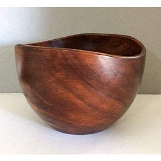 Vintage Sculptural Teak Bowl Preview